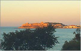 Rethymnon: Die Fortezza im Abendlicht